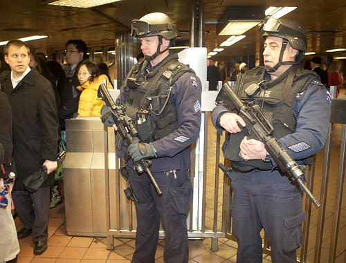 Armed Officers Police Subways Clout Magazine