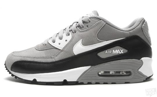 nike air max 90 grey white