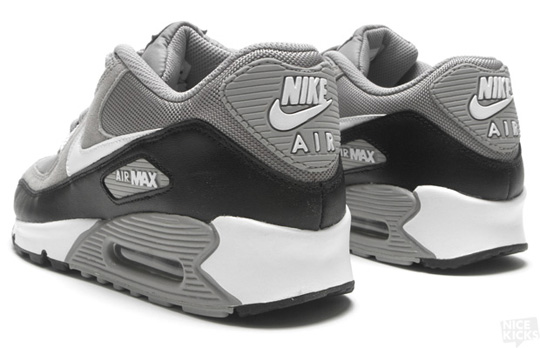 black grey white air max 90