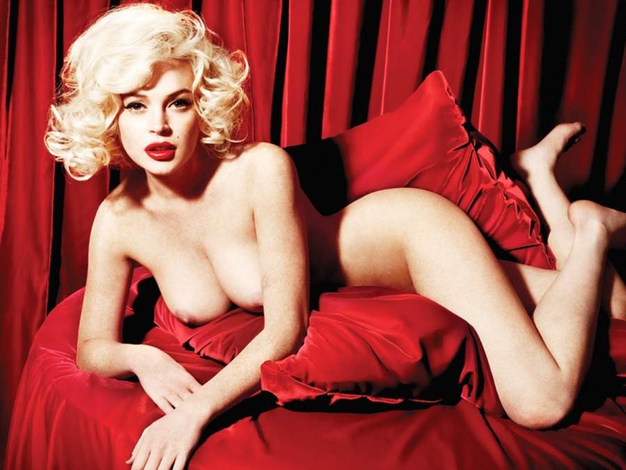 lindsay lohan and marilyn monroe nude