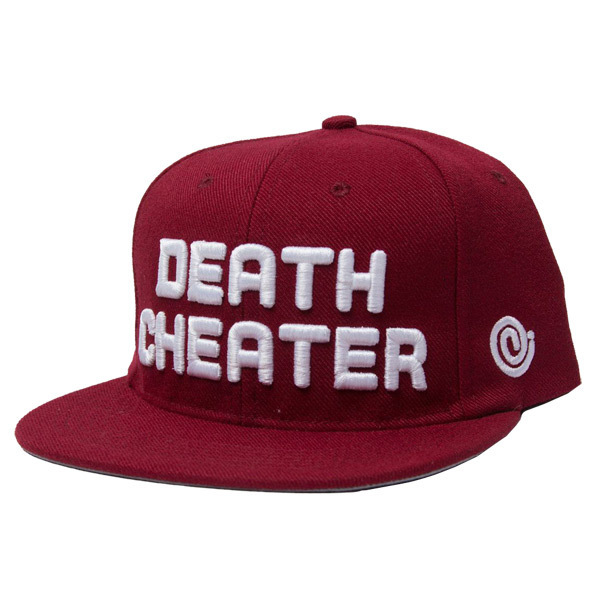 Snapback-death_cheater_maroon
