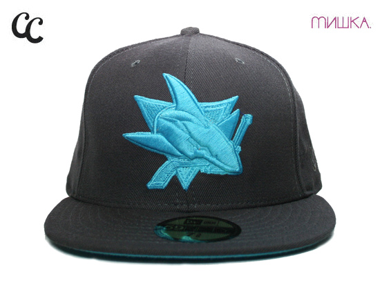 the latest 45ec6 10640 sweden san jose sharks new era fitted 59fifty hat black aqua gray under brim  432fc 3c693  discount code for mishka and cap city teamed up and through new  ...